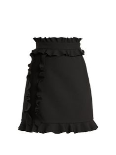 Click here to buy MSGM Ruffle-trimmed crepe mini skirt at MATCHESFASHION.COM