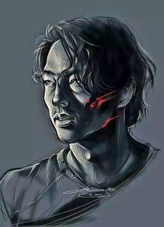 The walking dead artwork. Glenn