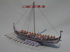 A really beautifull and detailed paper model of a Viking Ship , in scale , by German site Kallboys . The scale is perfect bec.