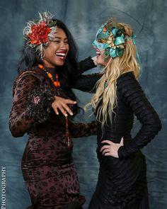Having fun with @samantha_morton #powerfulwitches watch out!  Photo @linehanphoto Dresses @battledesigns_ Jewelry @jewelingaofficial  Mask/Headpiece @ninabublikdesign My hair @kgalante104  #witchyvibes #voodoo #halloween #drama #pumpkinqueen #fashioneditorial #fashionphotography #modelling #modellingportfolio fashioneditorial #modelphotography #glamourshots #shamama #shamamaportfolio