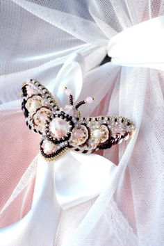 Brooch  Moth Emilia  MADE TO ORDER by RezcovaAgija on Etsy, $150.00