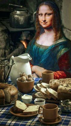Monalisa Picture, La Madone, Mona Lisa Parody, Mona Lisa Smile, Oil Painting Pictures, Renaissance Artists, Weird Art, Famous Women, Funny Art
