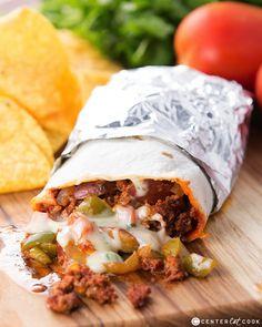 Spicy chorizo, potatoes, and queso blanco come together to create flavorful, delicious Chorizo, Potato, and Queso Burritos!
