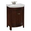 Shop allen + roth Moravia Sable Integral Single Sink Poplar Bathroom Vanity with Vitreous China Top (Common: 23-in x 18-in; Actual: 23.5-in x 18-in) at Lowes.com