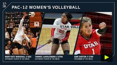 Pac-12 volleyball players of the week | Pac-12