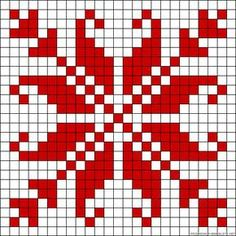 Star design perler bead pattern - turn it into granny square blanket!