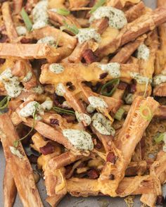 Yucca Cheese Fries with Bacon