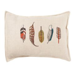 small feathers pillow