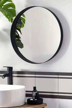 Mirror With Shelf, Round Wall Mirror, Black Mirror, Round Mirrors, Wall Mirrors, Floor Standing Mirror, Floor Mirror, Mantle Styling, Hollywood Lights