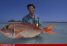 Man Holding Huge Fish