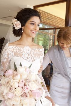 Roses & Peonies | Champagne & Dusty Pink: Real Wedding - Want That Wedding