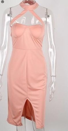 Brand Name: SIMPLEEMaterial: Polyester,SpandexStyle: Sexy & ClubSilhouette: SheathPattern Type: SolidSleeve Length: SleevelessDecoration: ZippersDresses Len Girls Party Dress, Girls Dresses, Party Dresses, Pink Bandage Dress, Black And Pink Dress, Women's Evening Dresses, Bodycon Dress Parties, International Fashion, Summer Dresses For Women