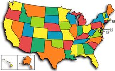 Excellent way for kids to learn the states and their capitols! Just click on the state you want to learn!  Why didn't I have this as kid?!