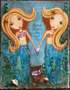 Mermaid Art  Kids Wall Art  Mermaid Print  Mermaid Decor