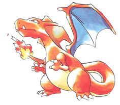 Pokemon Blue Concept art by Ken Sugimori. This artwork was released in late early 1996 just prior to the release of Pokemon Blue on the Game Boy. This gallery displays 50 images per page and is arranged by the Pokemon's number as they are in the Pokedex. Pokemon Go, Pokemon Rouge, Charmander Charmeleon Charizard, Pokemon Game Boy, Pikachu, Pokemon Tattoo, Charizard Tattoo, Sprites, Original 151 Pokemon