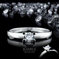 Zásnubný prsteň Diamond Collection 2015, z bieleho 14 karátového lesklého zlata, v ktorom je vsadený 1 briliant o priemere 5mm. Možnosť vyhotovenia v žltom aj v červenom prevedení a v každej veľkosti. Wedding Rings, Engagement Rings, Jewelry, Enagement Rings, Jewlery, Jewerly, Schmuck, Jewels, Jewelery