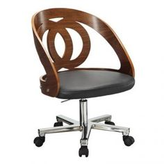Drina Office Chair in Walnut OUR PRICE  £259.00 RRP £339.00