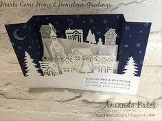 The Craft Spa - Stampin' Up! UK independent demonstrator : Hearts Come Home U Bridge Fold Tutorial - Fancy Fold Friday