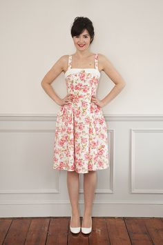 Let the new Rosie Dress sewing pattern from Sew Over It glam up your summer in style! With 50's vintage influences, it's girly, cute & perfect for everyday!