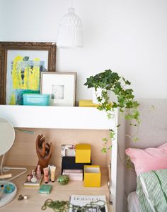 An IKEA PS 2014 bureau creates a personal corner in Ulrica's bedroom.
