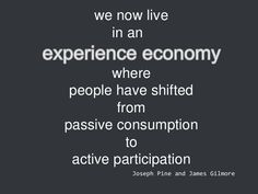 experience economy - Google Search