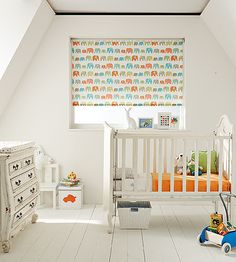 Transform your baby's bedroom with one of our blackout lined roller blinds. #rollerblinds #home #interiordesign #childrensbedroom #childrensblinds Please visit us at www.barnesblinds.co.uk
