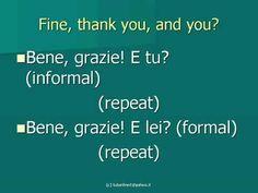 Basic Italian Conversation - Learn italian - How to Speak Italian Lessons
