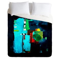 Robin Faye Gates Abstract Blue 1 Duvet Cover   DENY Designs Home Accessories
