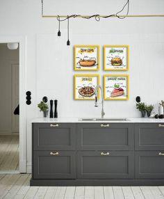 Conjuntinho de Quadros/Poster com 4 itens Gourmet - Delicious