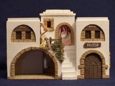 Posada. Vista 1 Easter Play, Disney Stained Glass, Fontanini Nativity, Matchbox Crafts, Doll House Plans, Mountain Village, Christmas Nativity, Decorative Tile, Miniature Houses