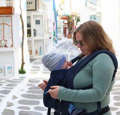 Mykonos Stadt, Ergobaby, Zwillinge, Griechenland, Baby