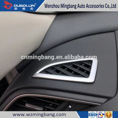 Chrome Front Up Air Vent Cover For Honda Civic 2016 Car Interior Accessories
