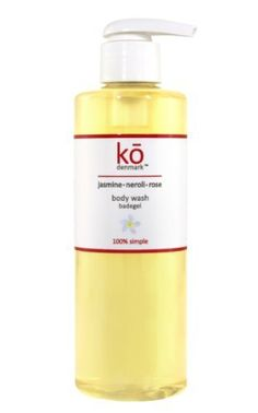 ko Denmark Organic Jasmine and Neroli Body Wash, 8-Fluid Ounce by ko denmark. $34.00. Natural and organic – made with precious flower oils. Highest concentration of skin soothing Jasmine and Neroli flower oils on the market. Luxurious feel and gentle on the skin - perfect for cleansing ultra-dry skin. Beautiful mesmerizing scent. Made with organic ingredients: No parabens, No harsh sulfates, No artificial fragrance. A boutique organic beauty brand, kō denmark ...