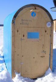 Free ice fishing shack plans build your own ice hut ice for Ice fishing shanty plans