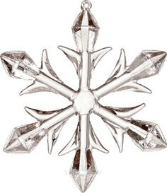 Heirloom Glass Snowflake Ornament (diamond design)