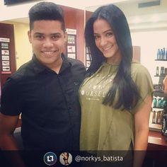 Luego de tanta laca  de anoche para la alfombra roja de su novela mi querida  @norkys_batista se vino a consentir su bella y natural. Melena #PANAMA #venezuela #makeupartist #madrid #makeup #makeover #barcelona #estilismo #estilista #work #cool #venezuela