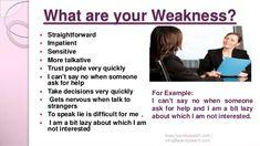 Interview Weakness Answers, Job Interview Answers, Job Interview Tips, Interview Tips Weaknesses, Common Job Interview Questions, Job Interview Preparation, Prepare For Interview, Teacher Interviews, Job Interviews