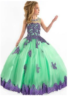 online shopping for FatefulBridal Girls' Ball Gown Appliques Beads O-neck Pageant Dresses from top store. See new offer for FatefulBridal Girls' Ball Gown Appliques Beads O-neck Pageant Dresses Little Girl Pageant Dresses, Girls Pageant Dresses, Wedding Flower Girl Dresses, Gowns For Girls, Girls Formal Dresses, Pageant Gowns, Flower Girls, Girls Party Dress, Birthday Dresses
