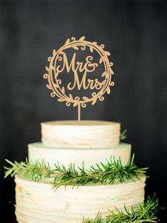 Mr Mrs Wedding Cake Topper Rustic Mr and Mrs by WeddingRusticDeco Price - $22
