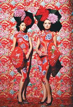 Chinese Cheongsam or Qipao Dresses Chinese New Year Party, New Years Party, Oriental Fashion, Asian Fashion, New Year Photoshoot, Textiles, New York, Cheongsam, Madame