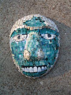 Aztec-inspired paper mosaic mask from art education daily Paper Mosaic, Mosaic Art, Aztec Mask, Hispanic Art, 6th Grade Art, Art Lessons For Kids, Inca, Mexican Art, Teaching Art