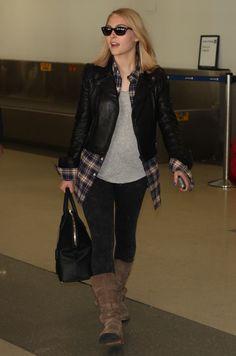 Annasophia Robb, Leather Jacket, Jackets, Fashion, Studded Leather Jacket, Down Jackets, Moda, Leather Jackets, Fashion Styles