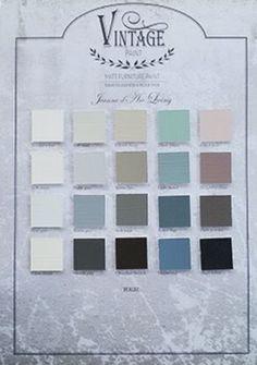 Vintage Paint Jeanne d'Arc Living Vintage Paint Colors, Scandinavian Style Home, Paint Color Schemes, Chalk Paint, Shabby, Palette, Room Decor, Interior Design, Frame