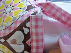Sweet Dreams Bedside Caddy - Sew4Home Bed Caddy, Bedside Caddy, Fabric Pen, Fusible Interfacing, Pink Gingham, Janome, Diamond Pattern, Sweet Dreams, How To Fall Asleep