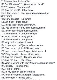 English - Turkish Day to day phrases