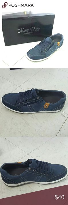 Mens navy casual sneaker size 8 Mens navy casual sneaker size 8 Marco Vitale Collezione  Shoes Sneakers