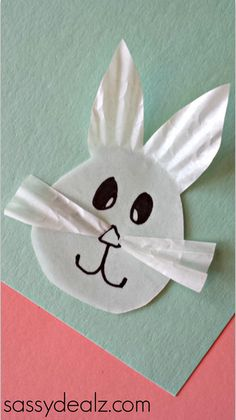 So easy! Kids can whip up these Cupcake Liner Easter Bunnies in no time.