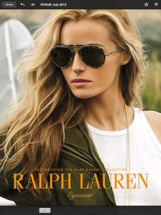 ba801c336c These Ralph Lauren sunglasses are a must have! Love the military safari  look.