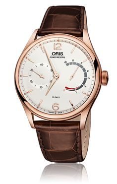 Oris 110 Years Limited Edition Oris Calibre 110 – A World first Combination To mark its 110th anniversary, Oris announces the Oris Calibre 110, the first in-house developed movement after 35 years. A hand-wound calibre, it features a 10-day power reserve and a patented non-linear power reserve indication.