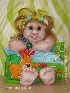 Куклы 8 марта День рождения Шитьё Кукла Вероничка Капрон Ткань фото 1